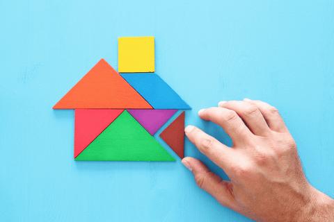 tangram shape house