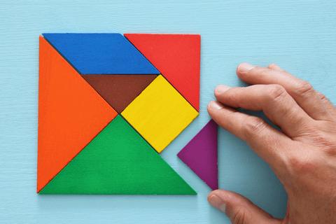 tangram solutions square