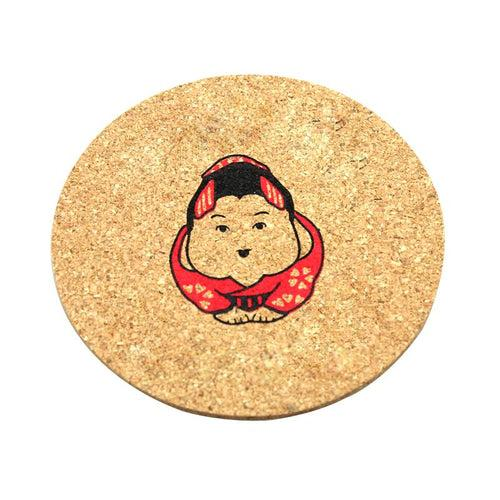 Round Cork Coaster CG Coaster One Dollar Only