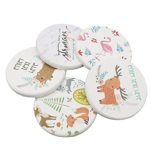 Round Clay Coasters CG Coaster One Dollar Only