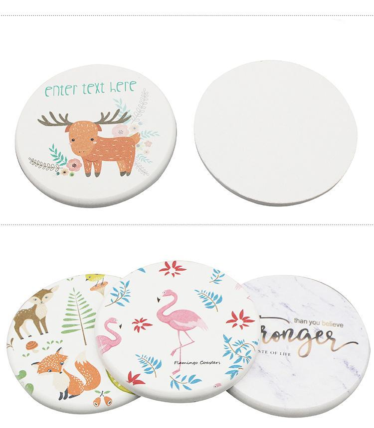 cheap corporate gift singapore customized clay coasters