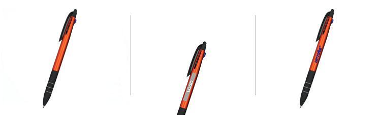 Ballpoint Pen With Black Lined Grip