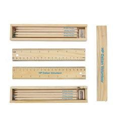 12-Piece Colour Pencil, Sharpener And Ruler Set In Box CG Writing Instruments One Dollar Only