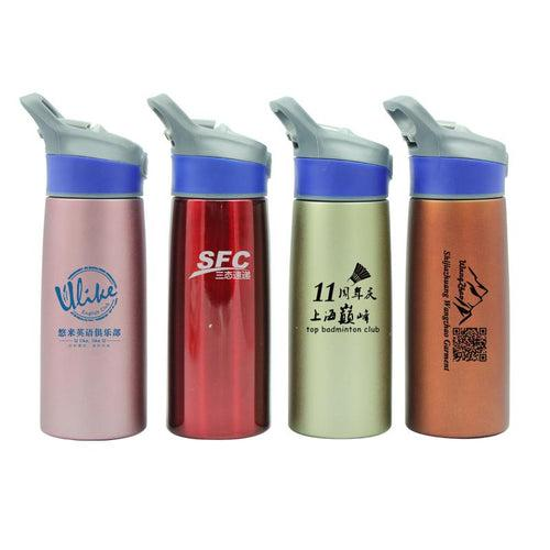 Sports Water Bottle With Push Button Straw (750ml) CG Drinkware One Dollar Only