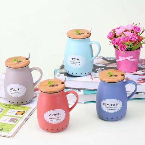 Big-Bottomed Ceramic Cup Set CG Ceramic Cups One Dollar Only