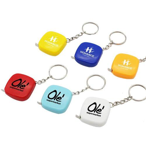 Mini Square Keychain With Tape Measure CG Measuring Tape One Dollar Only