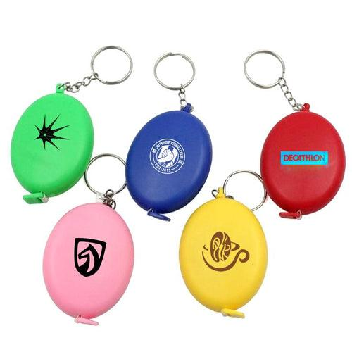 Oval Keychain With Tape Measure CG Measuring Tape One Dollar Only