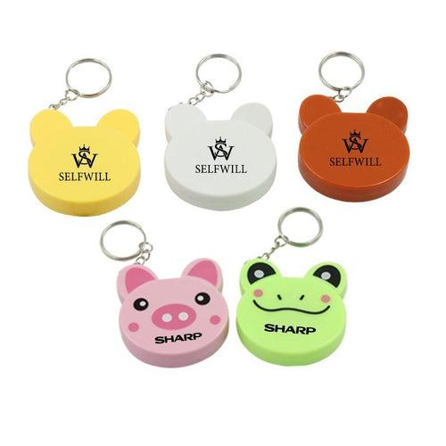 Cartoon Animal Keychain With Tape Measure CG Measuring Tape One Dollar Only