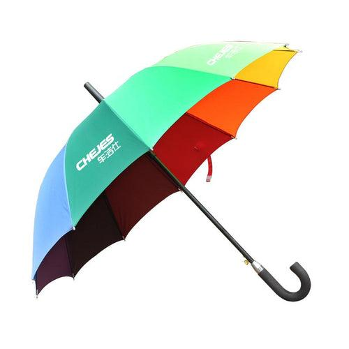 Non-Collapsible Rainbow Coloured Umbrella With Foam Rubber Handle CG Umbrella One Dollar Only