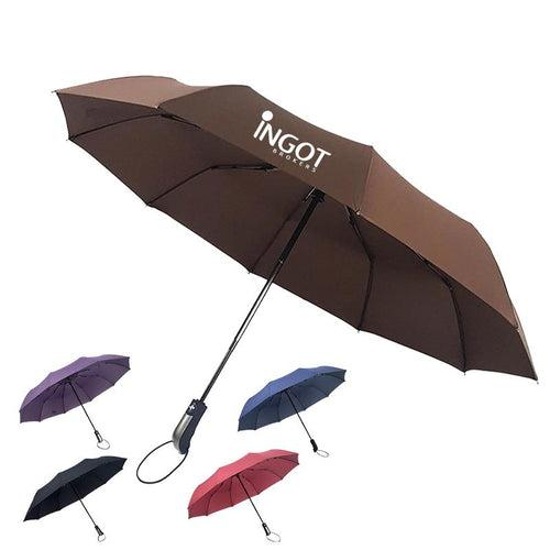 10 Ribbed Automatic Triple-Folding Umbrella CG Umbrella One Dollar Only
