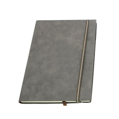 Business Paperback Notebook With Pu Leather Cover And Elastic Band Closure CG Notebooks One Dollar Only