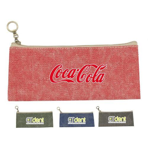 Cotton Zippered Pencil Case CG Pencil Cases One Dollar Only