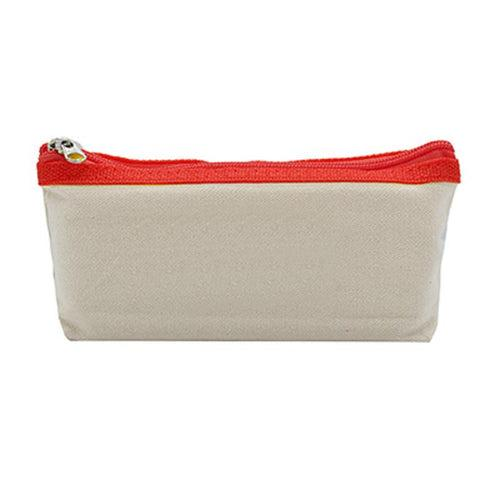Canvas Pencil Case with Coloured Zip CG Pencil Cases One Dollar Only