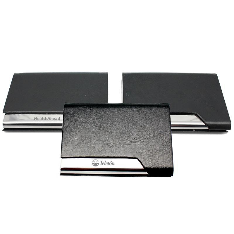 metal name card and black cover cheap corporate gifts singapore