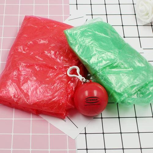 Portable Raincoat In Coloured Hollow Ball CG Apparel One Dollar Only