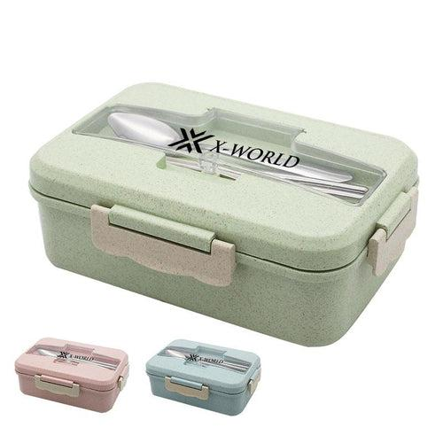 Lunch Box with Dividers and Cutlery Holder CG Lunch Box One Dollar Only