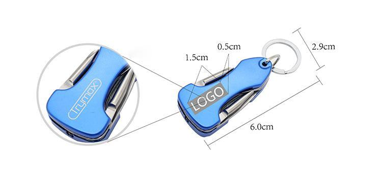 Keychain With 7-In-1 Multi-Tool Set