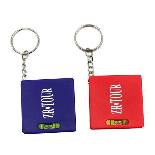 Square Keychain With Spirit Level And Retractable Tape Measure CG Measuring Tape One Dollar Only