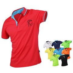 Short-Sleeved Polo Shirt With Coloured Inner Collar, Inner Placket, Collar And Sleeve Edge IWG FC One Dollar Only