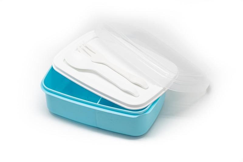 Plastic Lunch Box With Cutlery Personal Care One Dollar Only