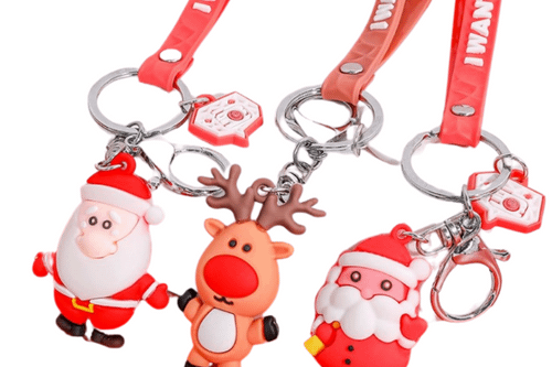 Christmas Theme Key Chains Seasonal One Dollar Only