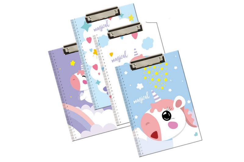A4 Unicorn Theme Clip Folder
