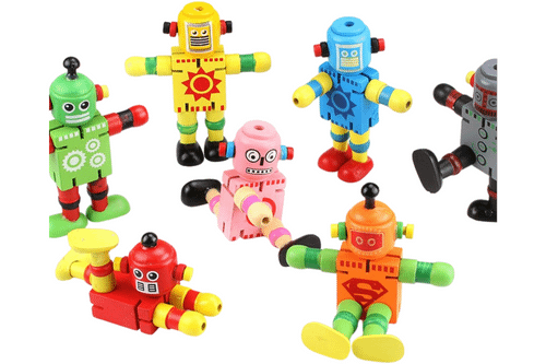 Wooden Toy Robot Games and Toys One Dollar Only