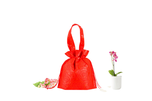 Chinese New Year Solid Colour Non-Woven Drawstring Bag Seasonal One Dollar Only