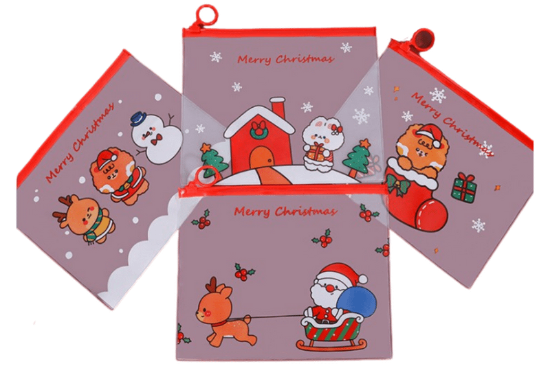 Christmas Theme A5 Zip Case