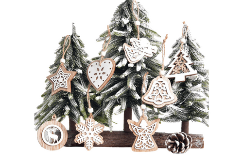 Christmas Tree Wooden Decor Seasonal One Dollar Only