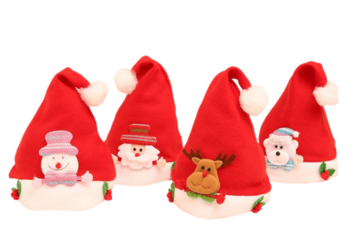 Christmas Hats with Designs Seasonal One Dollar Only