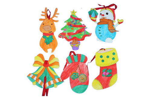 DIY Christmas Colouring Decorations Seasonal One Dollar Only