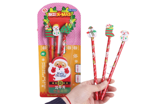 Christmas Theme Pencil Set Seasonal One Dollar Only
