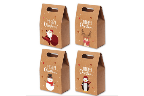 Christmas Kraft Paper Bag Seasonal One Dollar Only