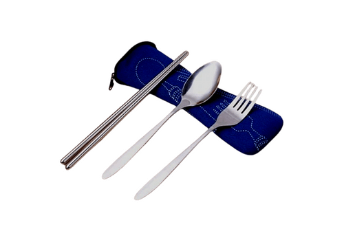 Metal Cutlery Set with pouch One Dollar Only