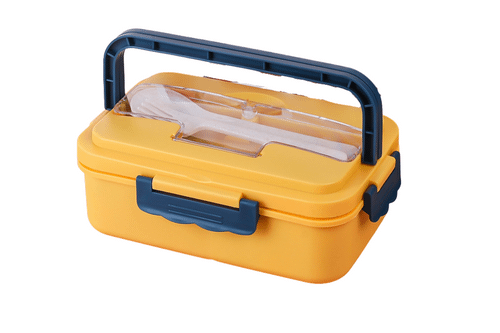 Plastic Lunch Box with Handle One Dollar Only