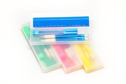 4pc Stationery Set with Hard Cover Pencil Case Stationery Set One Dollar Only