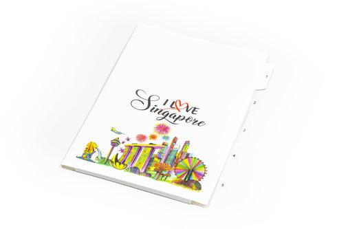 Singapore Design 5 Compartment L Folder FILES FOLDERS One Dollar Only