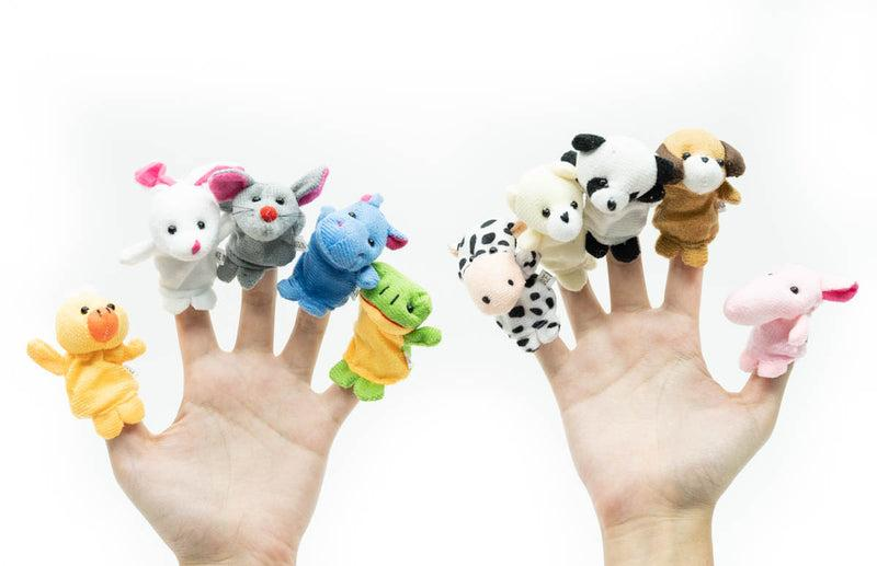 Pack of 10 Cloth Animal Finger Puppets Gift Ideas and Novelties One Dollar Only