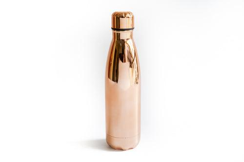 Rose Gold Cola Shaped Vacuum Sports Bottle DRINKWARE One Dollar Only