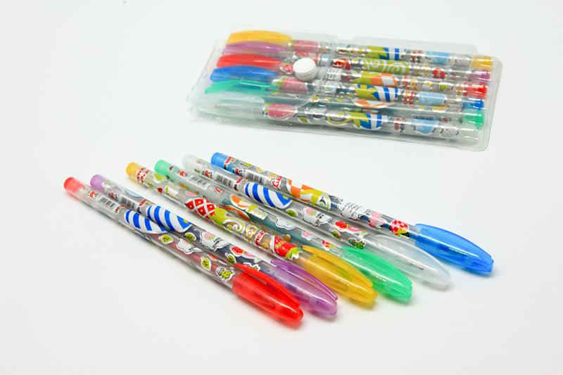 6-Colour Glitter Pen Set
