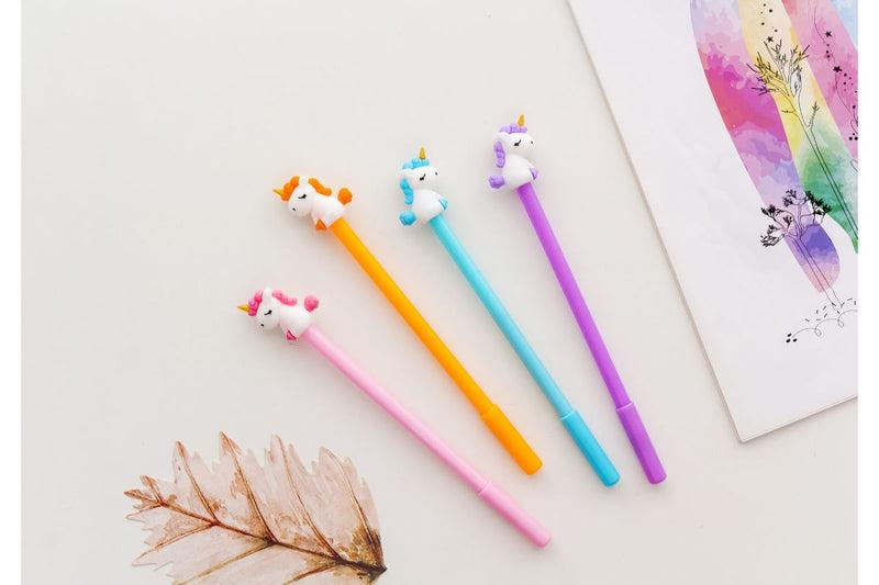 Whimsical Unicorn Themed Gel Ink Pen Pens One Dollar Only