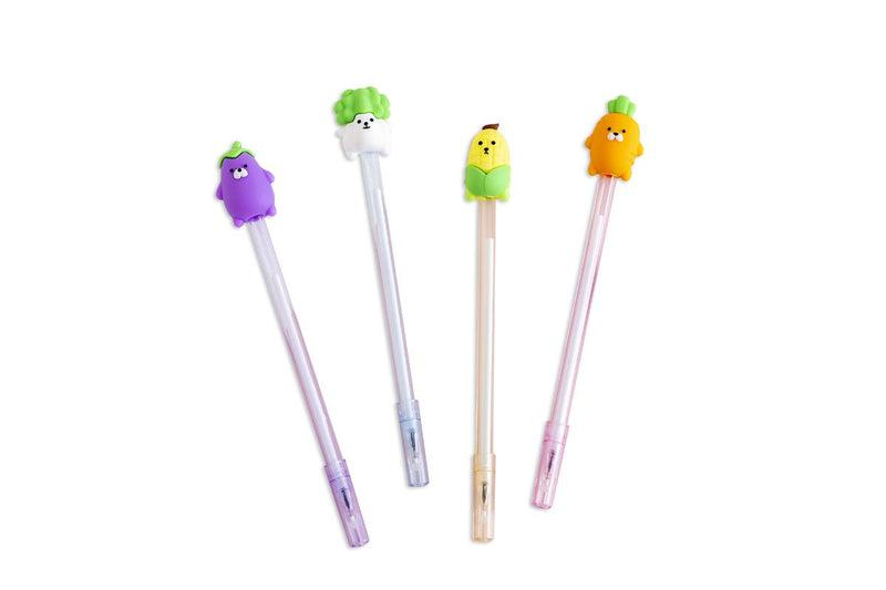 Cute Cartoon Vegetable Design Gel Ink Pen Pens One Dollar Only