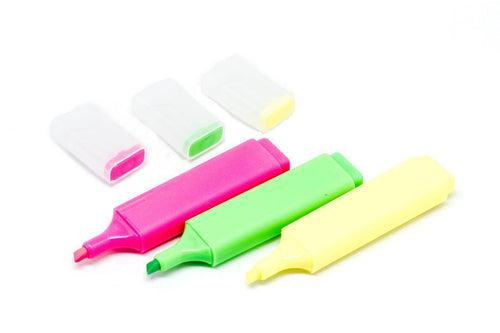 Set of 3 Highlighters, - Everyday Stationery,Writing Instruments,Highlighters - One Dollar Only