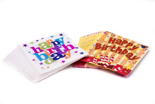 Birthday Party Tissue Serviettes Party Supplies One Dollar Only