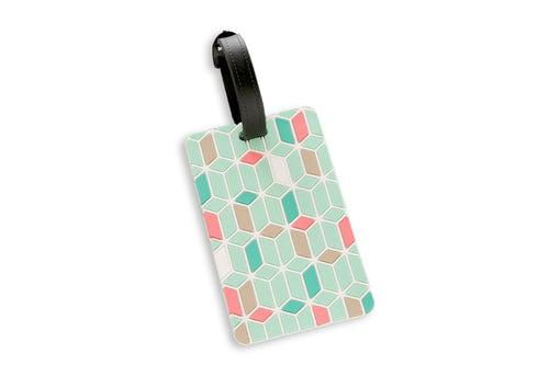 Geometric Abstract Design Pastel Colors Luggage Tag KEY CHAINS / LUGGAGE TAG One Dollar Only