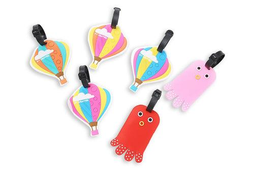 Whimsical Hot Air Balloon Design Luggage Tag KEY CHAINS / LUGGAGE TAG One Dollar Only