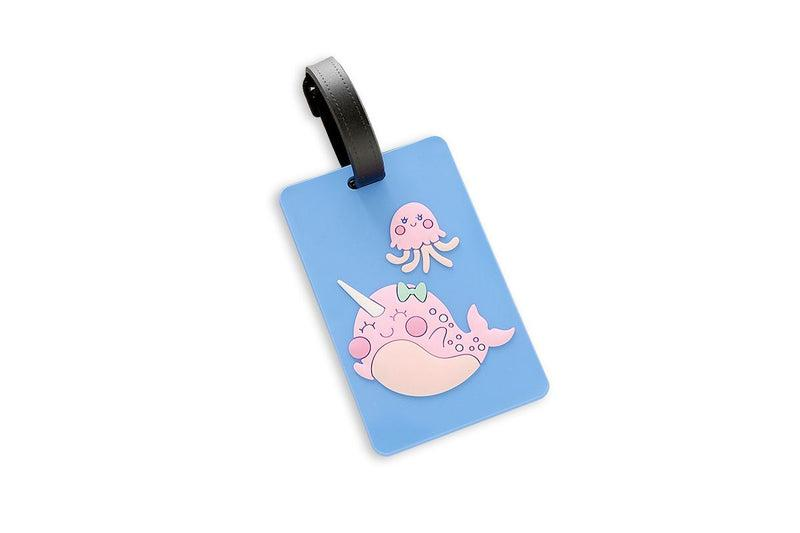 Whimsical Narwhal Theme Luggage Tag Key Chains One Dollar Only