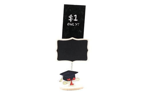 Graduation Blackboard Clip Holder Seasonal One Dollar Only