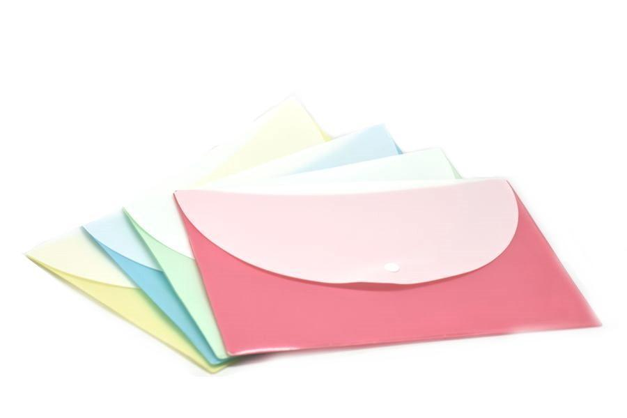 Pastel Button Folder (Pack of 12pcs Assorted),  - NEW!!! Just In!! - One Dollar Only